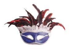 grå isolerad maskering för karneval Royaltyfri Bild