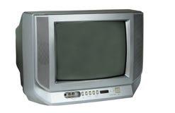 grå isolerad tv Arkivbilder