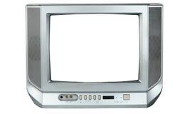 grå isolerad tv Royaltyfri Bild