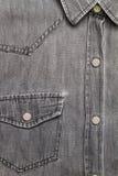 Grå jeanskjorta Royaltyfri Bild