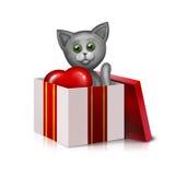 Grå katt Arkivbild