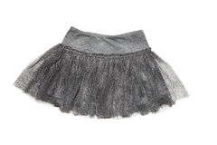 Grå kjol för flicka Arkivbild