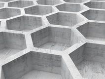 Grå konkret honungskakastruktur Arkivbild