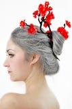 grå kvinna Arkivfoto