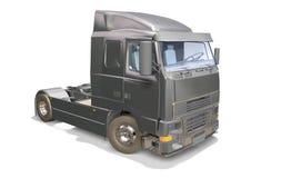 Grå lastbil Royaltyfri Foto