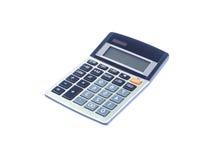Grå matematisk räknemaskin på vit bakgrund Arkivfoto