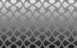 Grå metallisk texturerad abstrakt bakgrund komponerade av rombmodell Arkivbilder