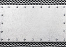 Grå metallram med ingreppet i bakgrunden, texturjärntempl arkivbilder
