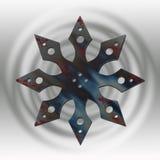 grå metallstjärna royaltyfri illustrationer