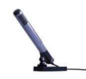 grå mikrofonstand för kondensator royaltyfri bild