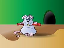 grå mus Arkivfoto