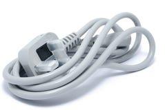 grå ny ström för kabel Fotografering för Bildbyråer