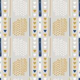 Grå och brun Memphis Style Geometric Abstract Seamless vektormodell royaltyfri illustrationer