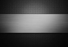 Grå perforerad textur för metallplatta med metallplattan Royaltyfri Bild