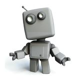 grå robot stock illustrationer