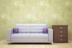 grå sofa Royaltyfria Bilder