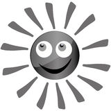 Grå sol Royaltyfri Foto