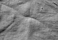 Grå textur för torkduk för färghessianssäck Royaltyfri Fotografi