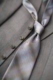 grå tie royaltyfri bild