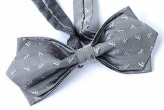grå tie för bow Arkivfoto