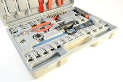 grå toolbox Fotografering för Bildbyråer