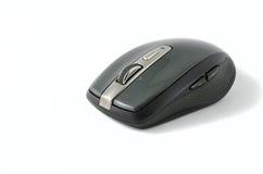 Grå trådlös mus på isolerad bakgrund Arkivfoto