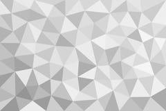 Grå trigonal polygonal bakgrund Vektor Illustrationer