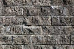 Grå vägg för tegelsten Royaltyfri Fotografi