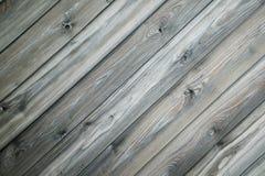 Grå wood bakgrund Royaltyfria Foton