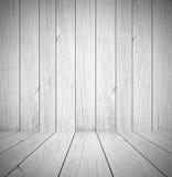 Grå wood rumtexturbakgrund - visa dina produkter Arkivbilder