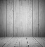 Grå wood rumtexturbakgrund - visa dina produkter Royaltyfria Bilder