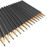 gråa blyertspennor Arkivfoton
