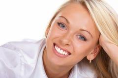 gråa härliga ögon Fotografering för Bildbyråer