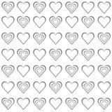 Gråa hjärtor för valentin på vit bakgrund Royaltyfria Bilder