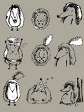 Gråa igelkottar stock illustrationer