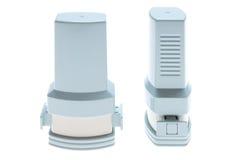 gråa inhalers Arkivbild