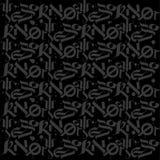 Gråa inskrifter, kalligrafi på en svart bakgrund Arkivbild