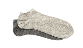 Gråa mäns sockor Royaltyfri Bild