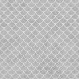Gråa och vita Shell Tiles Pattern Repeat Background Arkivfoto