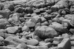 gråa rocks Royaltyfria Bilder
