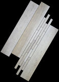 Gråa tegelplattor för marmor, mosaik Arkivfoto
