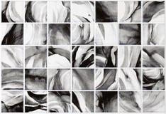 Gråa tegelplattor för marmorbakgrund, mosaik Arkivbilder