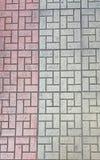 gråa tegelstenar Arkivbild