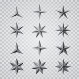 Gråa trans.-stjärnor vektor illustrationer