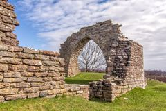 Gråborg chapel ruins Royalty Free Stock Photos