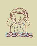 Gråta en flod Arkivbild