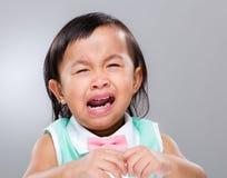 gråta flickan little Arkivfoto