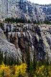 Gråta väggen, Banff nationalpark, Alberta, Kanada arkivfoto