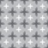 Grått geometriskt sömlöst illustartion Arkivfoto