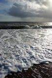 grått hav Arkivfoton